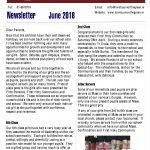 Newsletter 2018 June